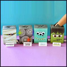 Dollar Store Crafter: Turn Empty Kleenex Boxes Into A Halloween Party Game