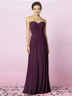 Purple bridesmaids dresses :)