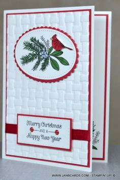 JanB Cards - Independent Stampin' Up! Demonstrator Jan Brown JanB Cards - Independent Stampin' Up! Stamped Christmas Cards, Homemade Christmas Cards, Stampin Up Christmas, Christmas Cards To Make, Christmas Countdown, Xmas Cards, Homemade Cards, Handmade Christmas, Holiday Cards