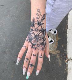 Wrist Hand Tattoo, Butterfly Hand Tattoo, Wrist Tattoo Cover Up, Hand Tats, Cover Up Tattoos For Women, Dope Tattoos For Women, Hand Tattoos For Girls, Sleeve Tattoos For Women, Girl Wrist Tattoos