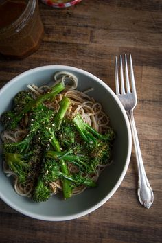 Soba Noodles with Roasted Broccoli.