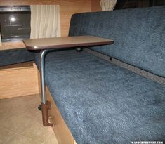 Swivel table in my Hawk - Four Wheel Camper Discussions - Wander the West Mini Camper, Popup Camper, Toyota Tundra Accessories, Camper Table, Van Conversion Layout, Camper Van Kitchen, Knock Down Wall, Swing Table, Motorhome Conversions