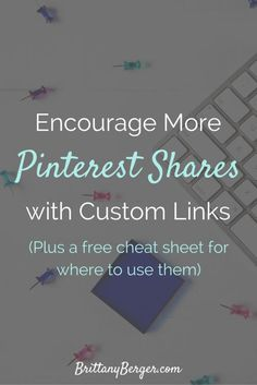 Custom Pin It Links (plus a free cheat sheet for where to use them) Social Media Design, Social Media Tips, Content Marketing, Social Media Marketing, Marketing Strategies, Online Marketing, Social Media Cheat Sheet, Business Education, Business Coaching