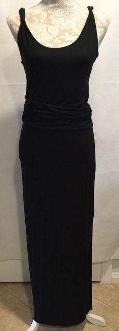 Tahari Long Black Slit Women's Sleeveless Full-Length Dress Size XS TP #Tahari
