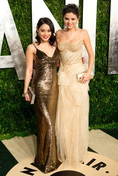 Vanessa Hudgens and Selena Gomez at the Vanity Fair party | Click through for more pictures!