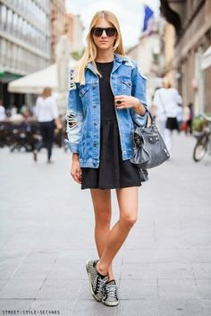Style Tips On How To Wear A Denim Jacket28