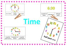 Time - telling the time - hodiny Telling Time, English, Map, Location Map, English Language, Maps
