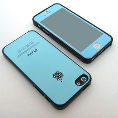 Dammen Black-blue jewelled cubic hard silicone+blue film fit for iPhone 5/5S