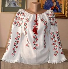 Folk Embroidery, Learn Embroidery, Embroidery Dress, Embroidery Patterns, Beaded Cross Stitch, Cross Stitch Charts, Palestinian Embroidery, Peasant Blouse, Embroidery Techniques