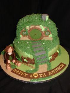 (Jan 2014) Hobbit / Lord of the Rings Cake