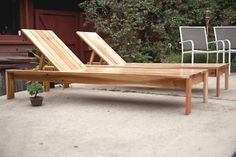 Loungers ... built with wood that I got for cheap on CL. I slightly modified the back and love my lounger.