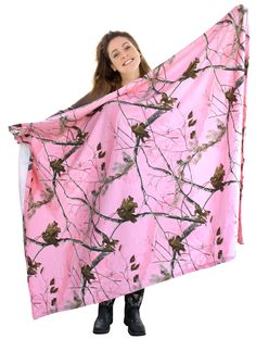 "Realtree Pink Throw Jersey Fleece 56x72"" Womens Camo Stadium Wrap Blan – Camo Chique"