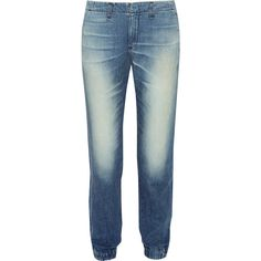 Rag & bone - Pajama Low-rise Boyfriend Jeans (2,020 MXN) ❤ liked on Polyvore featuring jeans, mid denim, slouchy boyfriend jeans, stretch waist jeans, elastic waist blue jeans, slouch jeans and boyfriend fit jeans
