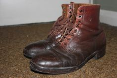 my vintage hiking boots from the early 1960's i took out the sharp spikes and then took them to a cobblers and they stuck a rubber sol...