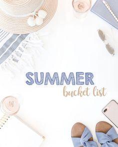 Summer Bucket List {2020} - CurlyCraftyMom.com Summer Songs, Summer Fun, Bucketlist Ideas, Bbq Menu, Smoothie Challenge, World Birds, Summer Bucket Lists, Weekend Fun, Summer Essentials