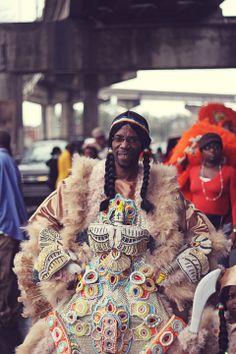 Mardi Gras Indians 2013 - Tremé, New Orleans.