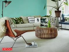 #Botanisch Wonen; prachtige combinatie van 50% wol en 50% PP. Desso Studio Nature: robuut boucle #tapijt.