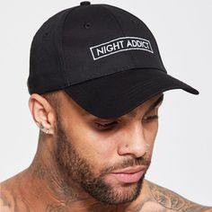 6b3464e866b MENS BLACK NIGHT ADDICT BASEBALL CAP