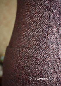 Карман с подкройным бочком в платье