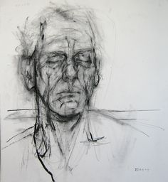 Ginny Grayson - L - Tired, 2009 Charcoal on paper