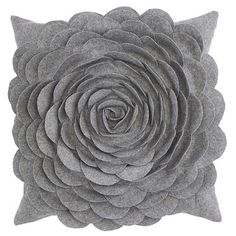 How to make a Felt Flower Pillow - Classy Clutter  Think I would use fleece and sew, not glue it tog. Maybe use a variety of textures.