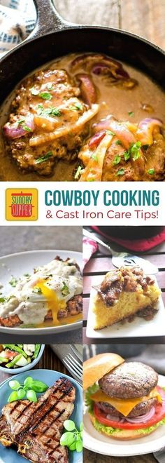 Learn about Cowboy Cooking and how to care for Cast Iron so you can eat and cook just like the cowboys out on the range do! Get the best beef recipes to satisfy your hungry man and woman too. These recipes are hearty and easy to make! #SundaySupper #CertifiedAngusBeef