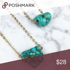 ✨HP✨ Arriving Soon! Raw Turquoise Necklace Minimalist chic! Raw Turquoise on 14k gold chain from boutique designer Wila.  Like listing for arrival notification. Wila Jewelry Necklaces