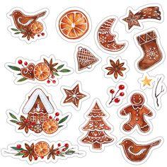 Скрапбукинг, рукоделие Christmas Clipart, Christmas Stickers, Christmas Printables, Paper Bag Scrapbook, Scrapbook Stickers, Christmas Drawing, Christmas Art, Journal Stickers, Planner Stickers