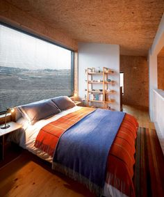 Bedroom With Enormous Window in Fiscovaig Eco Home