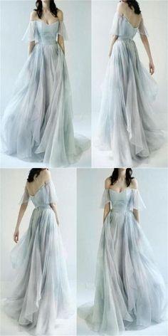 Charming Off Shoulder Unique Design Most Popular Long Prom Dresses ,Bridal gowns G241