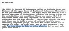 "Wikileaks cable: Afghanistan Parliament Chairman States, ""We Know There Is Life On Other Planets."""