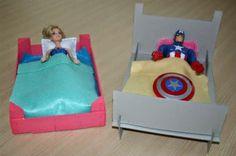 DIY manualitat: llit cartó per nines. DIY manualidad: cama de cartón para muñecas
