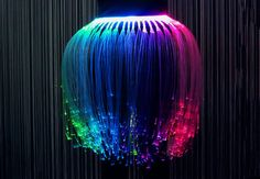 Jellyfish Skirt, made with fibre optics. It's beautiful!