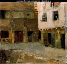 """""""The House of Victor Hugo in Airline"""" ~ Joaquin Sorolla y Bastida (Spanish, Madrid, Valence, Spanish Painters, Chef D Oeuvre, Art Database, Manet, Office Art, Whistler, Great Artists"""
