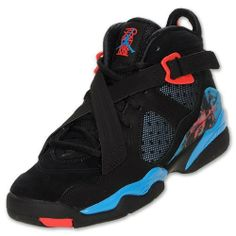official photos 79431 7b5df Jordan Nike Youth Girls  Air Jordan 8.0 (GS) Basketball Shoes-Black Blue  Nike.  109.98