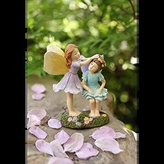LA JOLIE MUSE Miniature Fairy Garden Sisters 4 Inch, Hand Painted Resin Figurines, for Garden Indoor Decor Gift - Great product, cheap price, and fast shipping. Garden Gazebo, Lawn And Garden, Decorative Planters, Fairy Garden Accessories, Miniature Fairy Gardens, Mini Gardens, Garden Supplies, Amazing Gardens, Muse