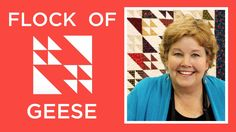 The Flock of Geese Quilt: Easy Quilting Tutorial with Jenny Doan of Miss...