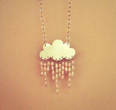 Angel tears rain necklace