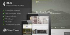Download and review of Keid - Modern Multipurpose Wordpress Theme, one of the best Themeforest Corporative themes