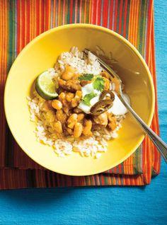 Chili verde au poulet Chili Verde Recipe, Chicken Chili Verde, Ricardo Recipe, Confort Food, Chicken Recipes, Recipe Chicken, Healthy Recipes, Healthy Meals, Yummy Recipes