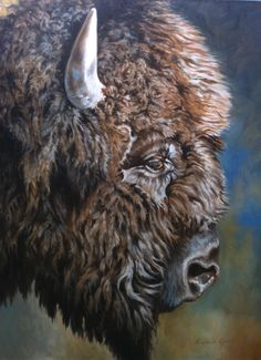 Old Bull, original oil Painting of a Bison by Canadian Artist Kindrie Grove by KindrieGroveStudios on Etsy Buffalo Pictures, Buffalo S, Buffalo Painting, Oil Pastel Paintings, How To Make Drawing, Wildlife Paintings, Large Animals, Canadian Artists, Western Art
