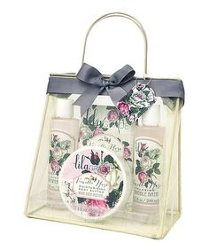 This Vanilla Rose Four-Piece Bath Gift Set by Lila Grace is perfect! #zulilyfinds