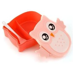 Cartoon Owl Plastic Lunch Box Bento Lunch Box Food Fruit Storage Container Microwave Cutlery Set Children Gift 4 Colors - FREE SHIPPING