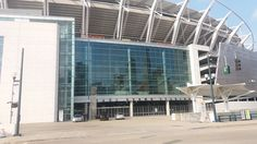 This is what Paul Brown Stadium looks like today at the front entrance. It has improved a lot over the years. Because of gentrification, people like coming to this stadium to watch football.