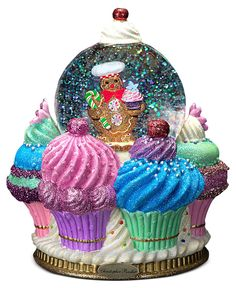 Christopher Radko Snow Globe, Ginger Cake Delights - Snow Globes & Musicals - Holiday Lane - Macy's