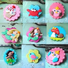 """LOVE these """"Hair Cookies"""" for the girls."""