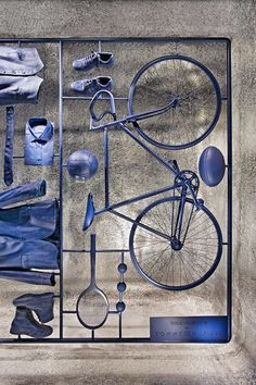 I Have a Lifestyle installation at La Rinascente by Fabio Novembre for Tommy Hil. - I Have a Lifestyle installation at La Rinascente by Fabio Novembre for Tommy Hilfiger - Window Display Design, Store Window Displays, Retail Displays, Denim Window Display, Shop Displays, Visual Merchandising Displays, Visual Display, Retail Windows, Store Windows