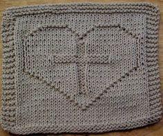 knit dishcloth patterns   cross+in+heart.jpg