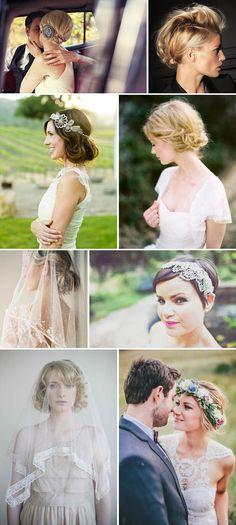 Short and Sweet Wedding Hair Inspiration