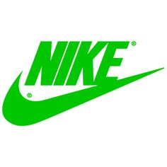 Green Nike Logo | Nike Swoosh Logos ❤ liked on Polyvore